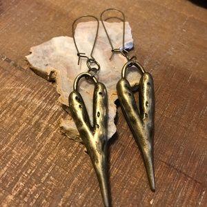 "Jewelry - Whimsical Brass ❤️ earrings 3"""